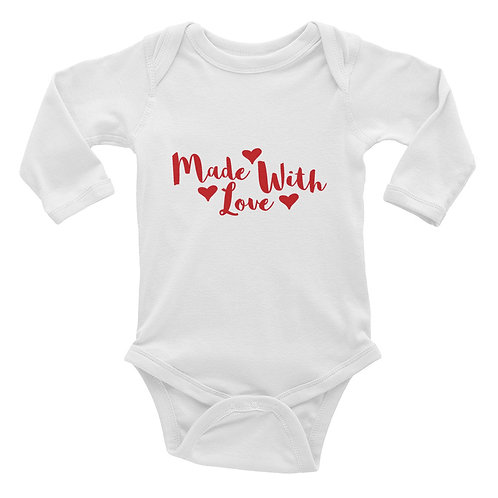 'Made With Love'  Infant Bodysuit (Long-Sleeve)