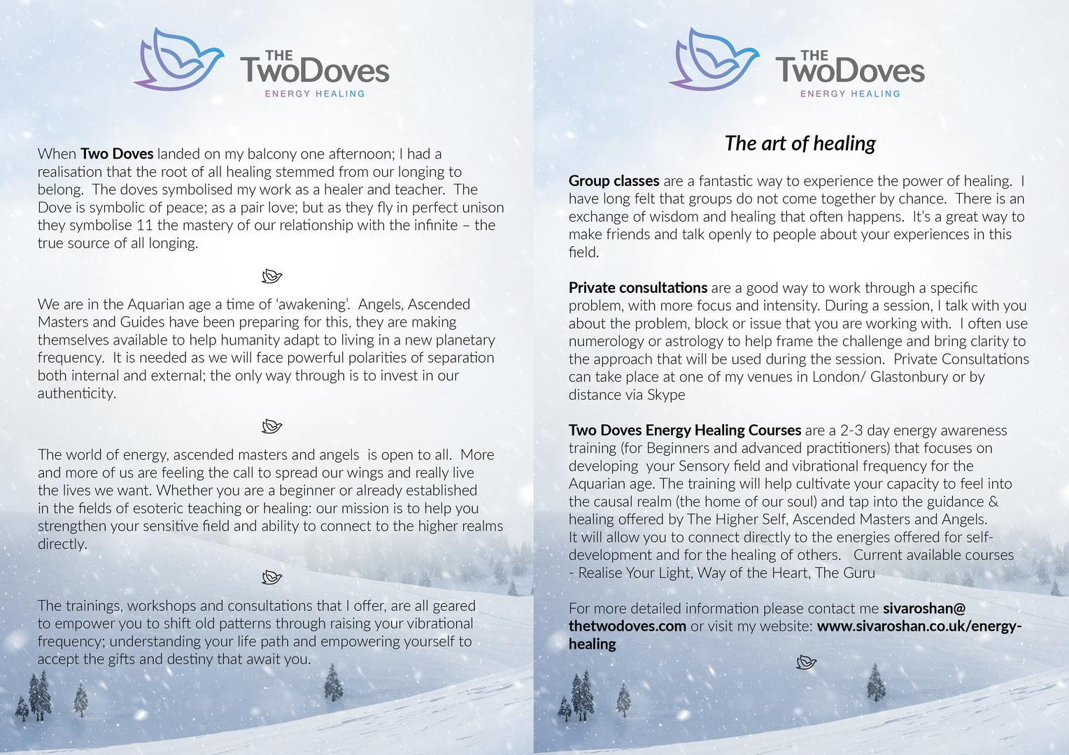 A4 Half Fold Leaflet Design (Double-Sided)
