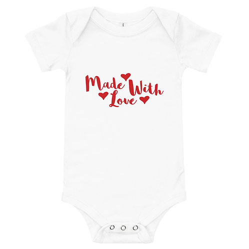 'Made With Love' Baby Grow (T-shirt)