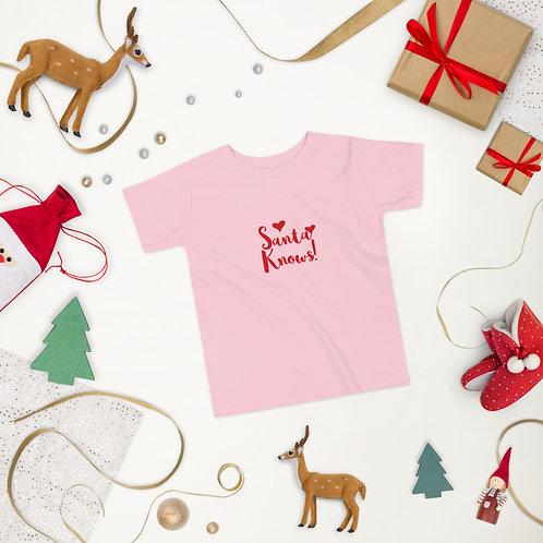'Santa Knows!' Junior Tee (Short Sleeve)
