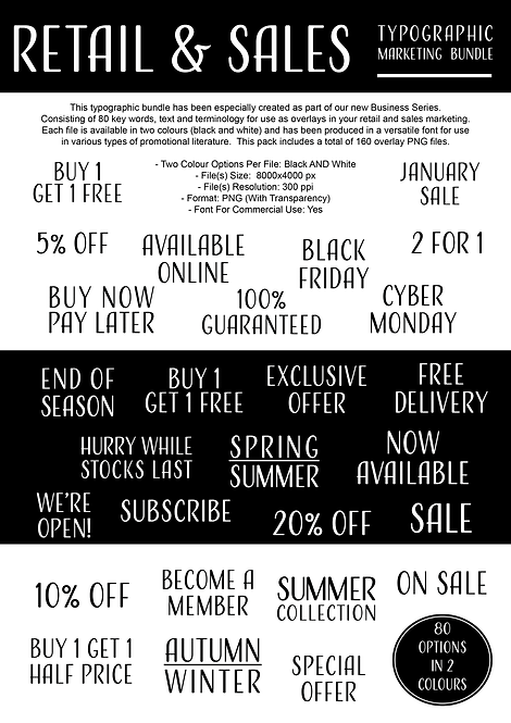 Retail & Sales Typography Bundle