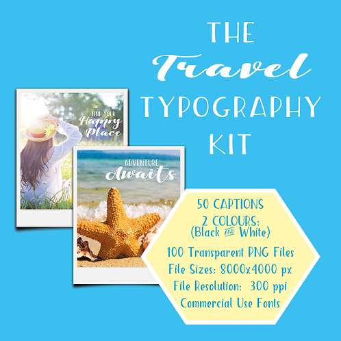 Travel Typography Bundle