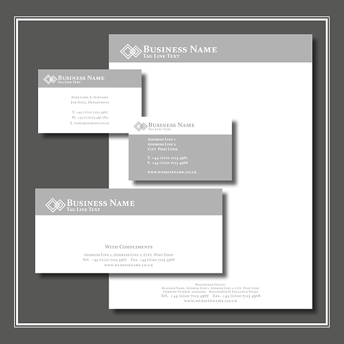 The 'Grey Icon' Stationery Set