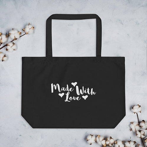 'Made With Love' Organic Tote Bag (Large)