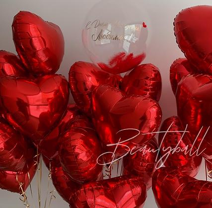 Red Hearts Любимой