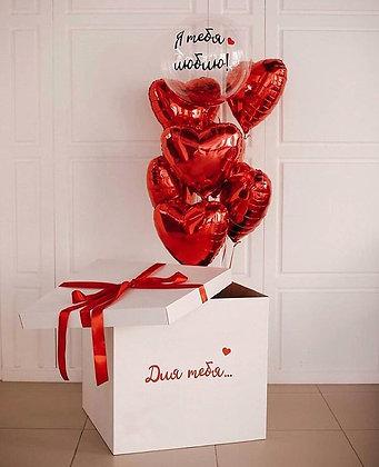 Bubble с сердцами в коробке-сюрпризе