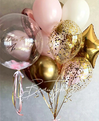 Bubble и связка Pink&Gold