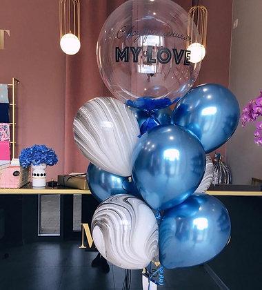 Bubble, агаты и хром Blue