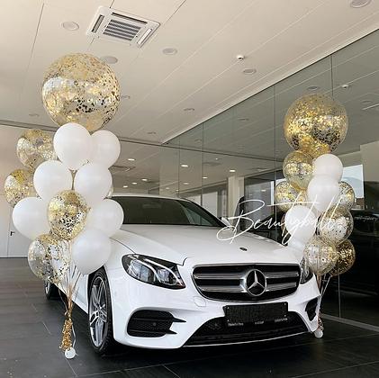 Связки White & Gold с большими шарами