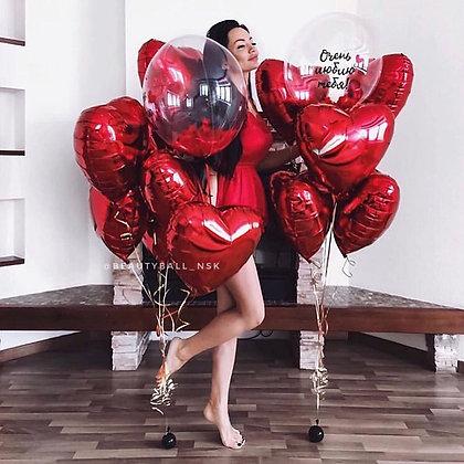 Связка с Bubble и красные сердца
