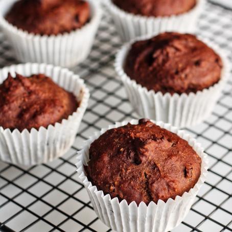 Vegan chocolade cupcakes.