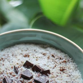 Vegan protein bounty oats