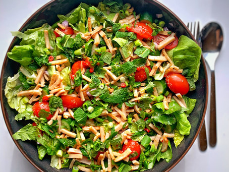 Super snelle Aziatische lunch salade
