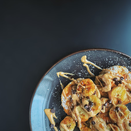 Mini protein pancakes uit de oven.