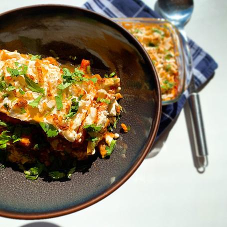 Oosterse lasagne.