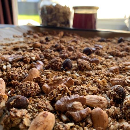 Huisgemaakt granola.
