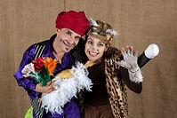 Theater mit Zauberei Sturmvogel beide