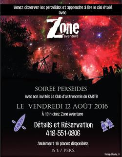 Perséides avec Zone Aventure