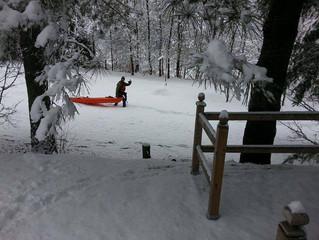 La féerie de la rivière du Loup sous la neige !