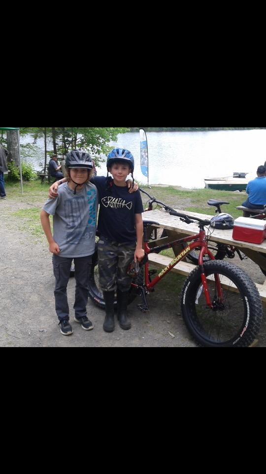 Les jeunes en Fat-Bike