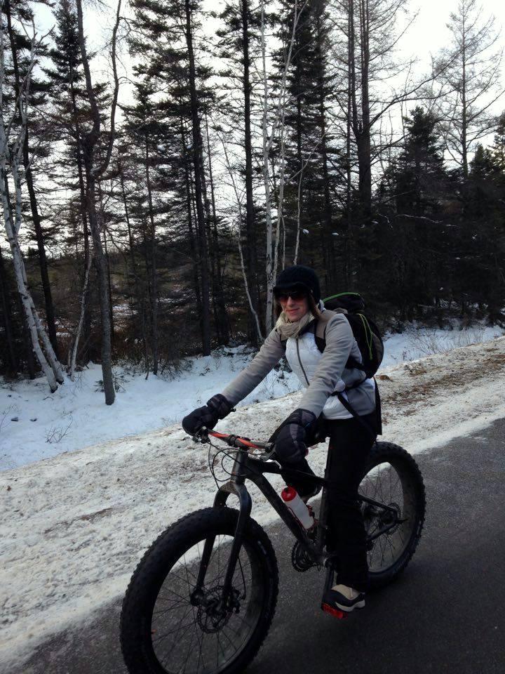 Fat bike en hiver