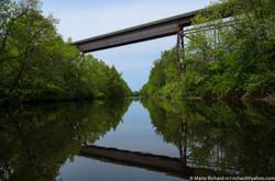 La rivière du loup sous le pont