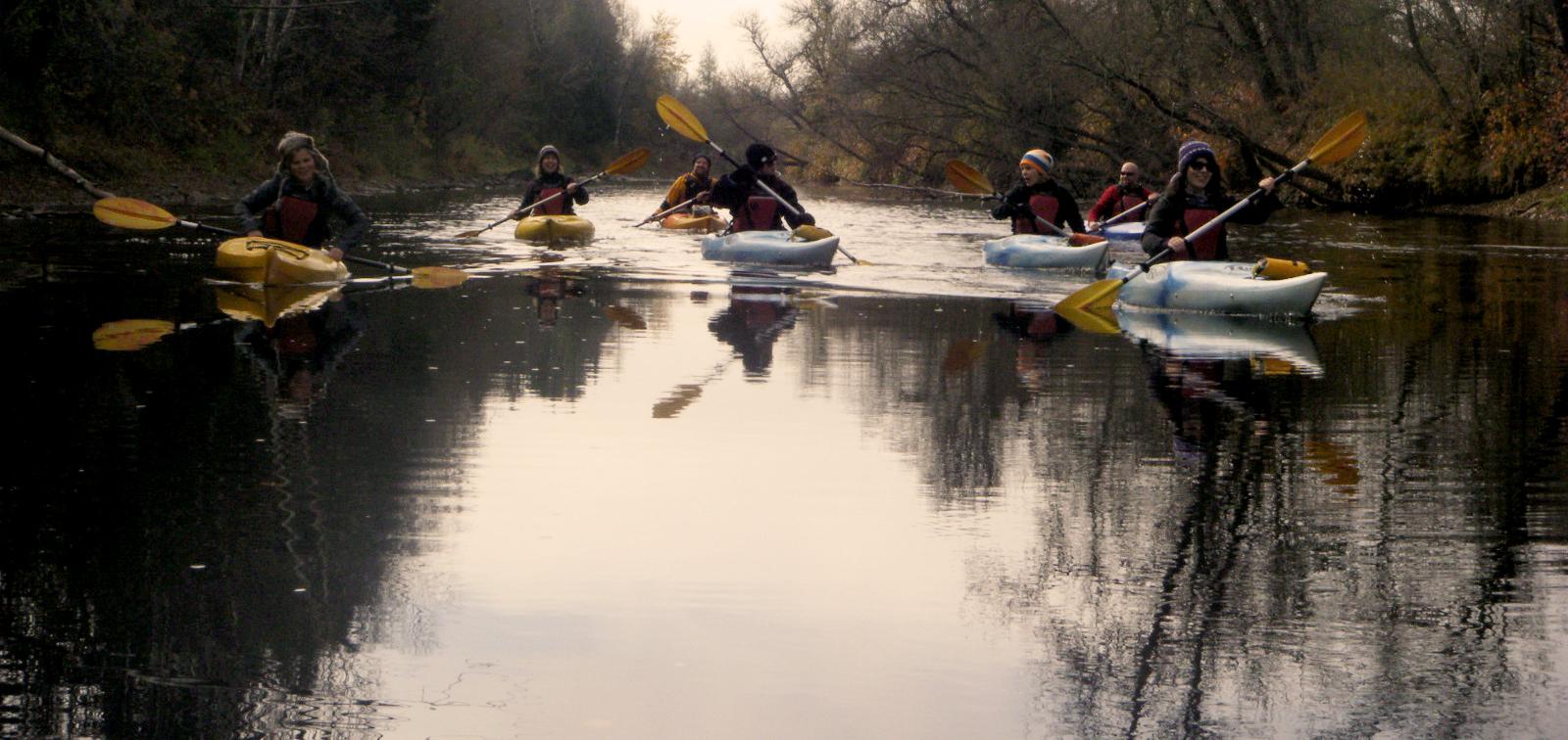 Kayak par tous les temps