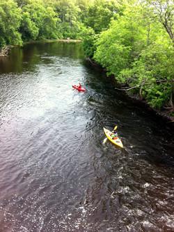 Quiétude en kayak