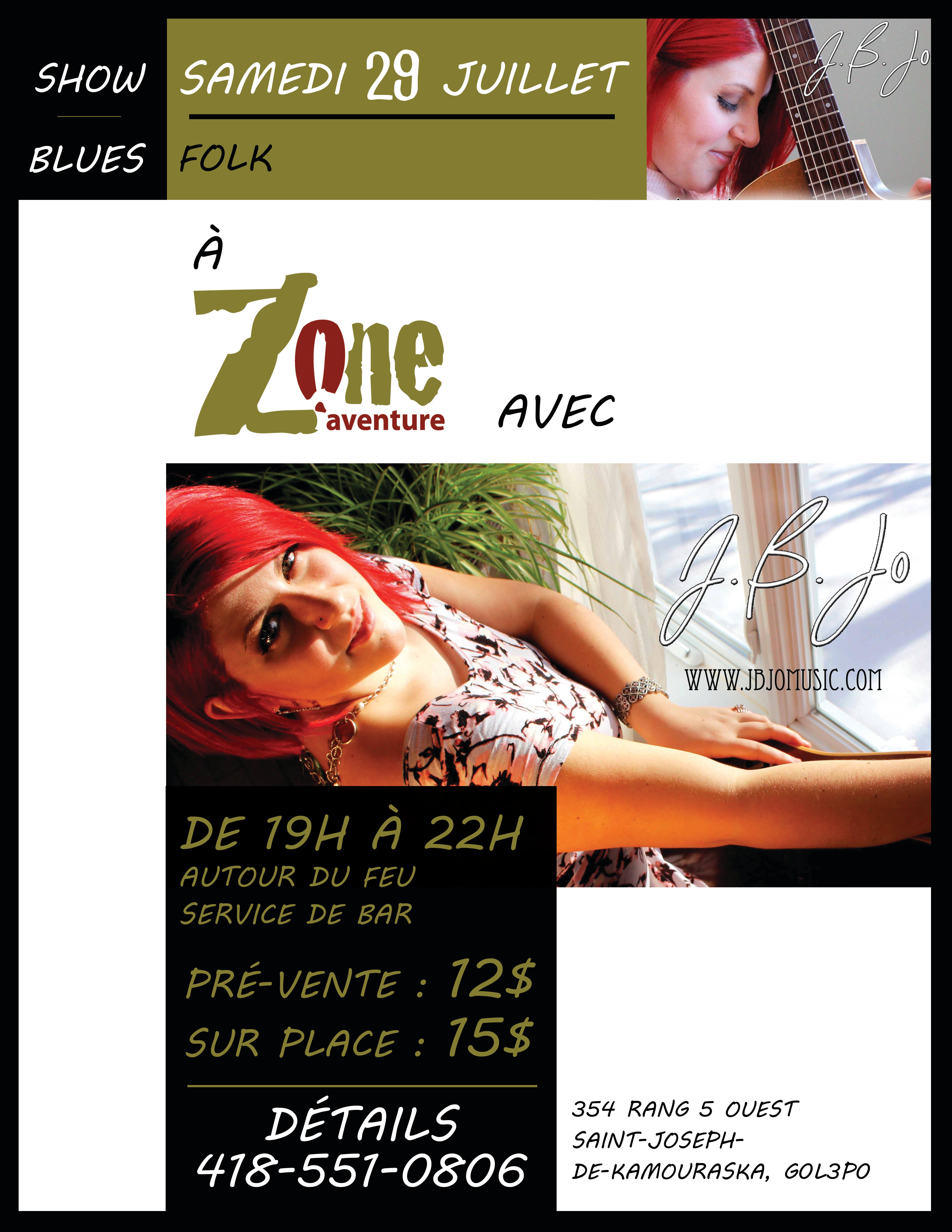 Jo B Jo en concert à Zone Aventure
