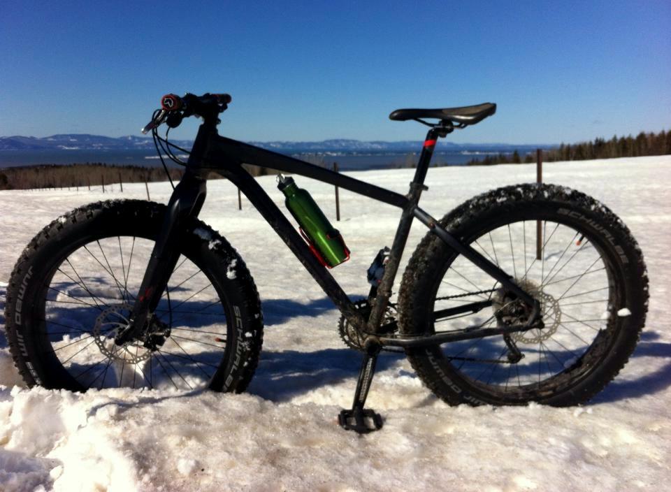 Fat bike d'hiver