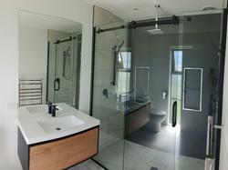 Sliding door shower