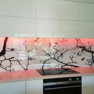 Digital print glass splashback