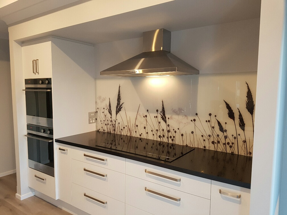 Digital print glass splashback
