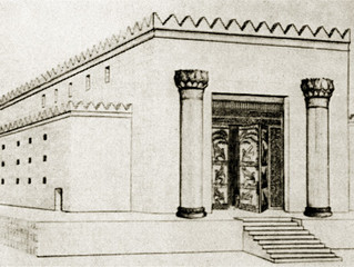 Je cherche de la matière concernant le premier temple et les raisons de sa destruction.