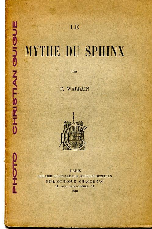 LE  MYTHE  DU  SPHYNX   par   F. WARRAIN    Paris 1910