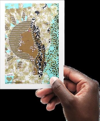 'Hold On' Postcard