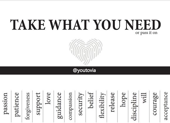 Take What You Need - English File