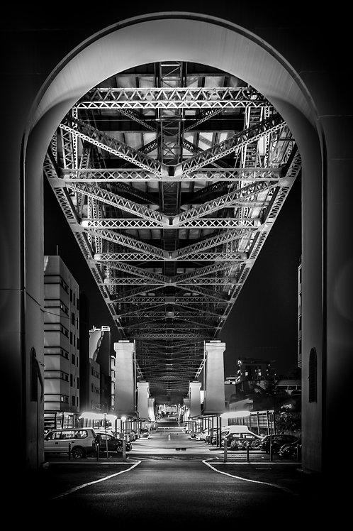Brisbane Under Bridge - Canvas