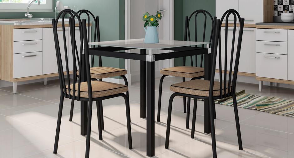 Conjunto Malva de 0,75 com 4 cadeiras 121