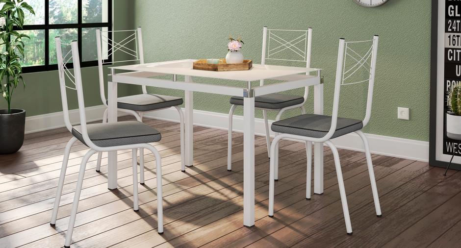 Conjunto Malva de 1,07 com 4 cadeiras 119