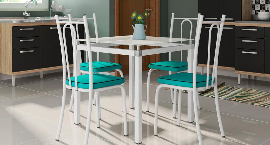 Conjunto Malva de 0,75 com 4 cadeiras 123