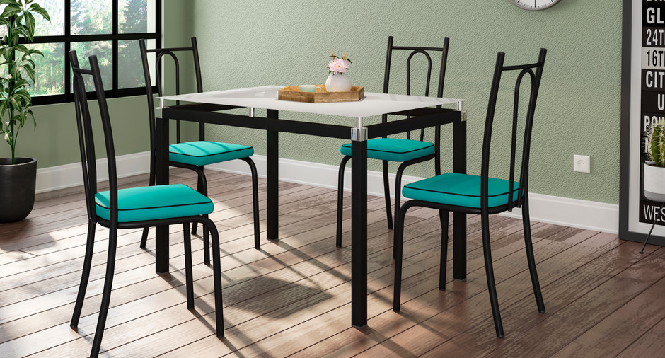 Conjunto Malva de 1,07 com 4 cadeiras 121