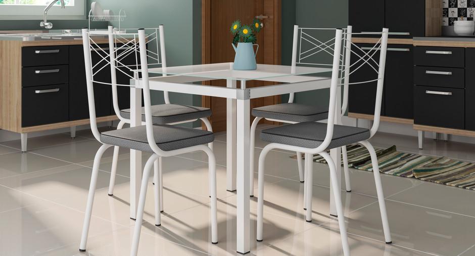 Conjunto Malva de 0,75 com 4 cadeiras 119