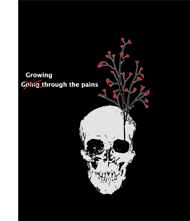 Through the pain (red) not signed.png