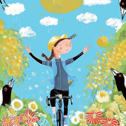 Large Square Greeting Card - Spring Joy
