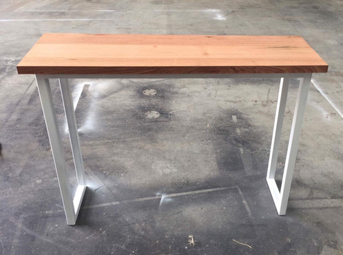 oak hall tables. Tassie Oak Hall Table With White Metal Legs Tables