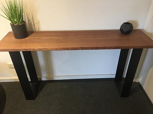 115. Tasmanian oak industrial hall table
