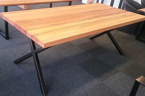 119. Recycled mixed hardwood dining table