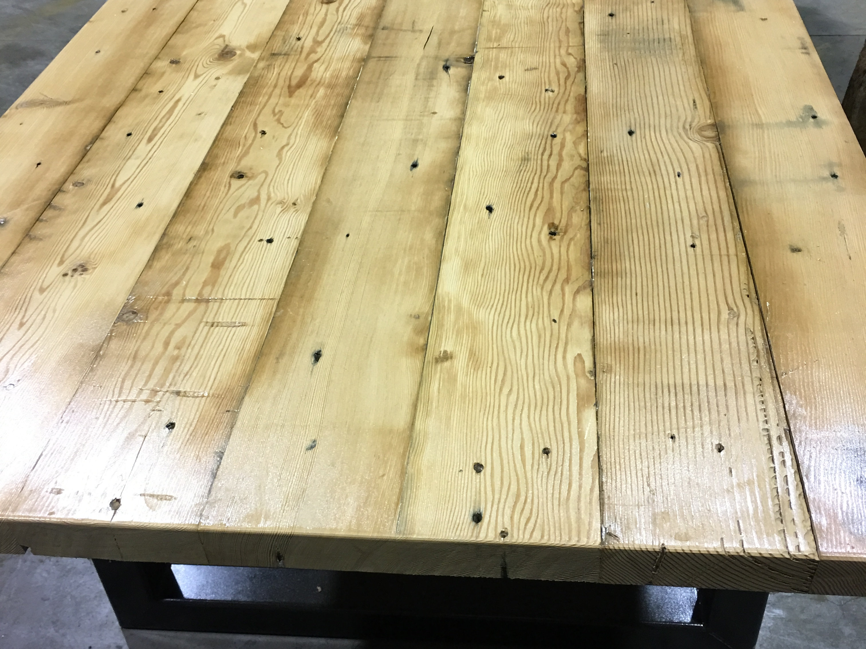 Industrial dining table - Recycled Oregon Industrial Dining Table