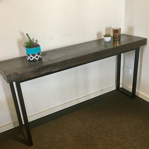 97. Recycled Solid Oregon industrial hall table